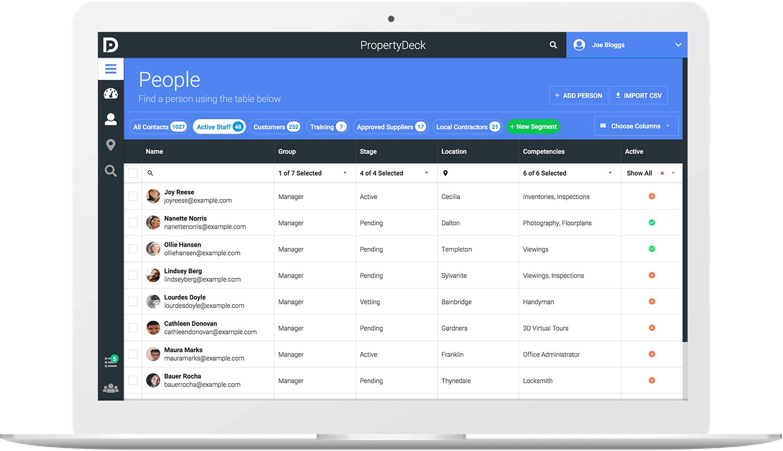 Property Deck - A free CRM for property owners, managers and suppliers